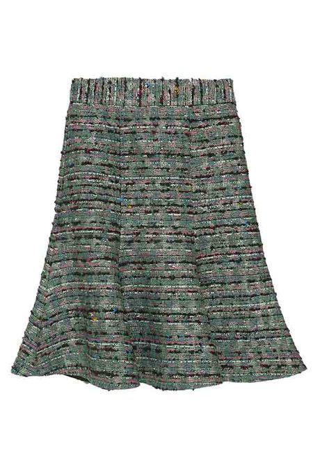 DESERT MANNEQUIN x N-DUO tweed skirt - Green