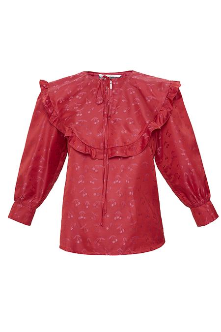 DESERT MANNEQUIN x N-DUO Ruffled blouse