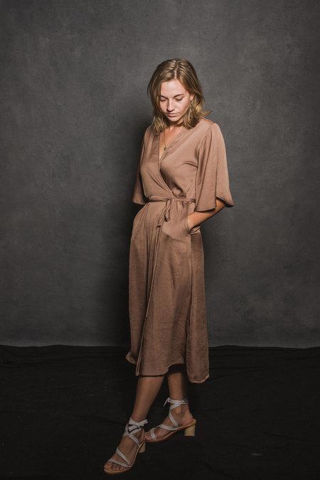 Conrado April Wrap Dress - Gold