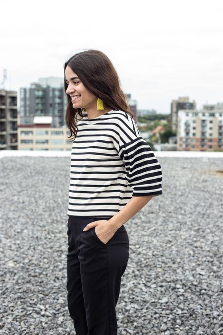 Eve Gravel Stone's Fall Top - Stripes
