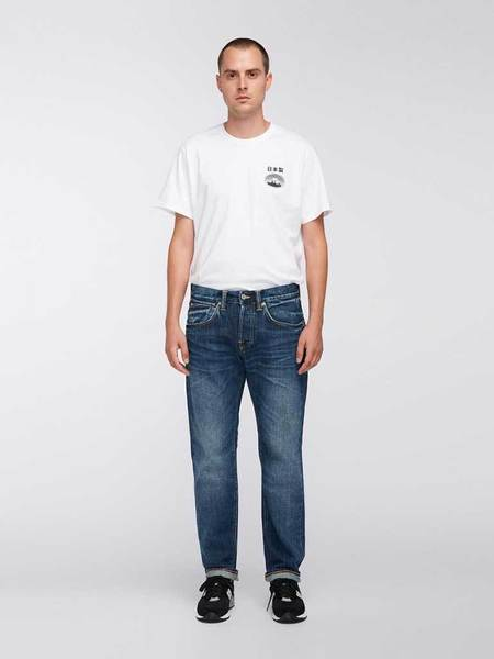 Edwin ED55 Red Selvedge Jean - Contrast Clean Wash