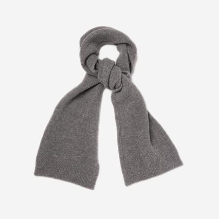 Unisex Country of Origin Merino Fleece Boucle Scarf - Grey