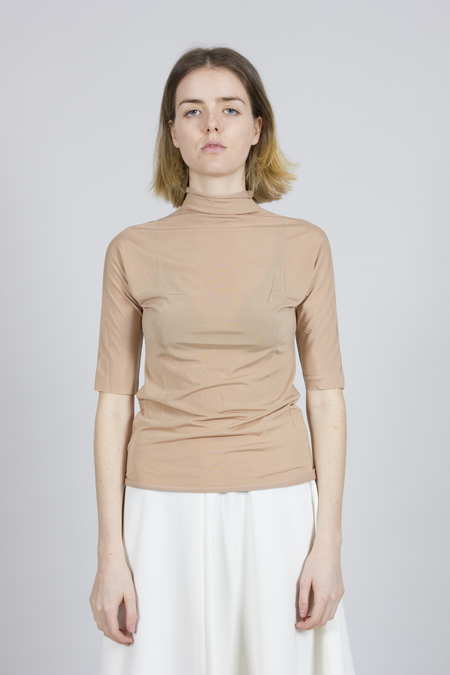 Greyyang High Neck T-shirt - Beige