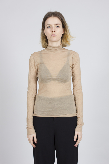 Greyyang Roll Neck Top - Beige