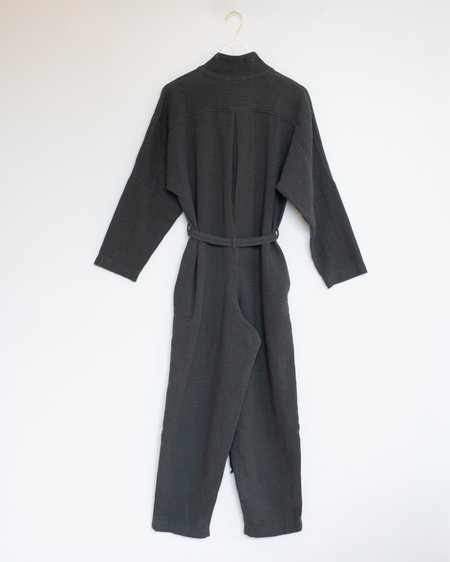 Black Crane High Neck Jumpsuit -