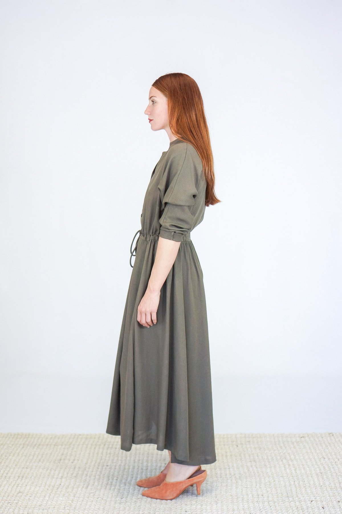 57ab4071d9 Black Crane Classy Dress - Sand