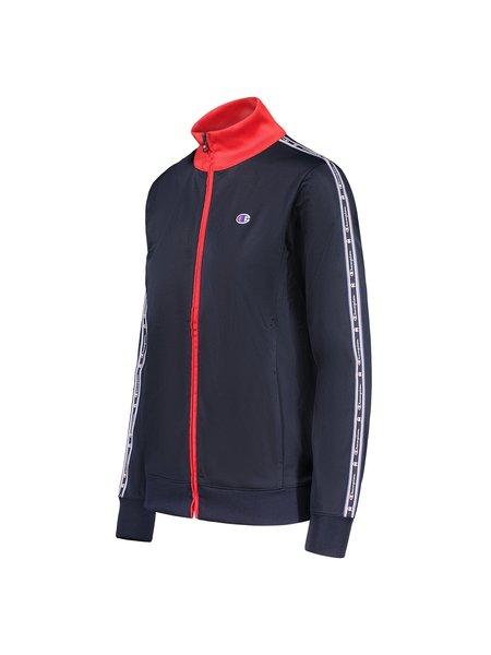 Champion Reverse Weave Poly Wrap Knit Mock Jacket