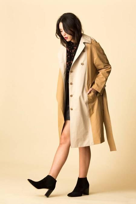 Mijeong Park Bi-Color Trench Coat - Beige