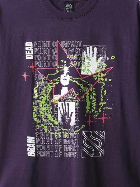 Brain Dead Point of Impact Tee - Purple