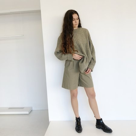 Vintage Johan Pleat Short - Khaki