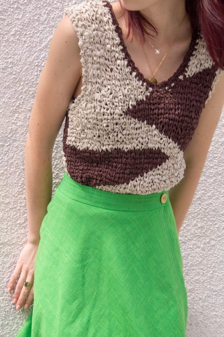 Mercy Vintage Skirt - Lime Green