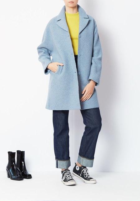 YMC Heroes Wool Coat - Sky Blue