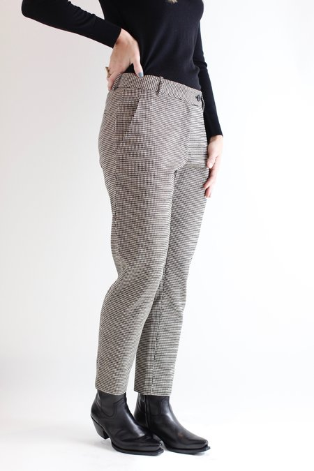 6397 Cropped Lurex Trouser - Houndstooth