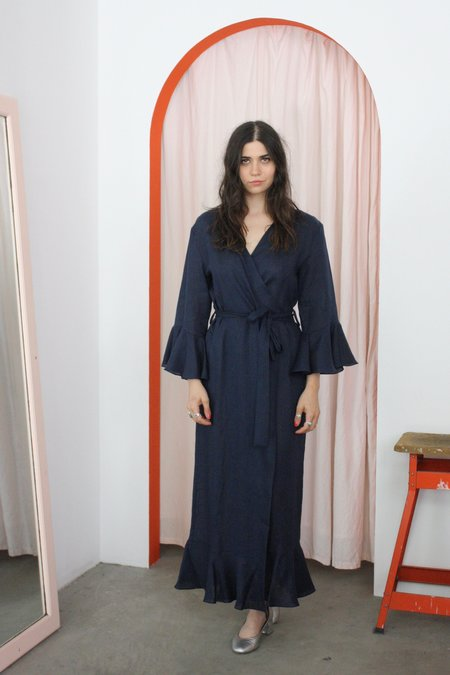 Sleeper Loungewear Robe Dress - Bosporus Navy