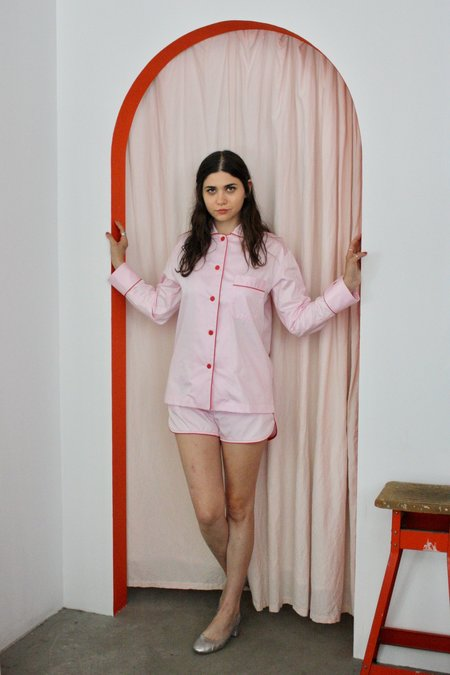 Sleeper Shorts Pajama Set - Donut Pink