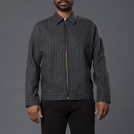 Gustav Von Aschenbach Striped Light Tweed Jacket - Grey Pinstripe