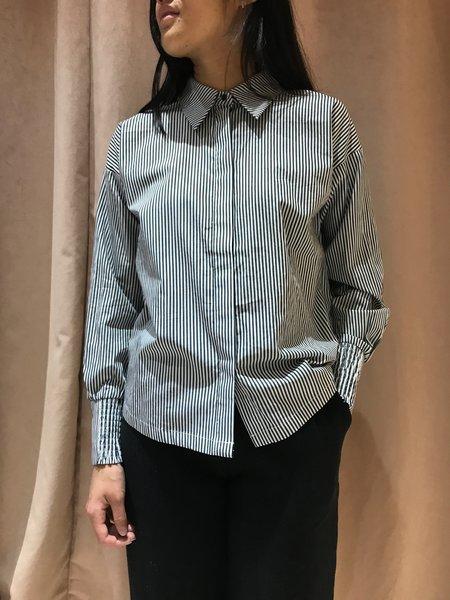 MINIMUM YRSA SHIRT - white/dark grey