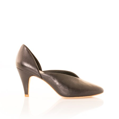Charlotte Stone Pumps - Black
