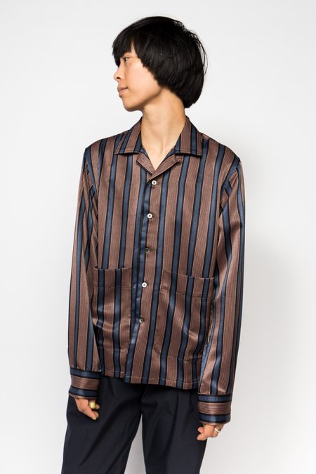 Maiden Noir Shirt - Navy Stripe