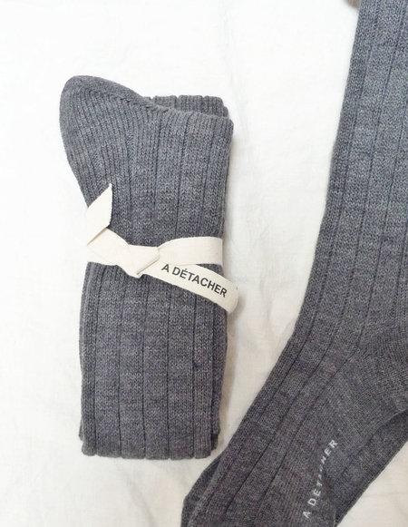 A Détacher Alpaca Knee Socks - Charcoal Gray