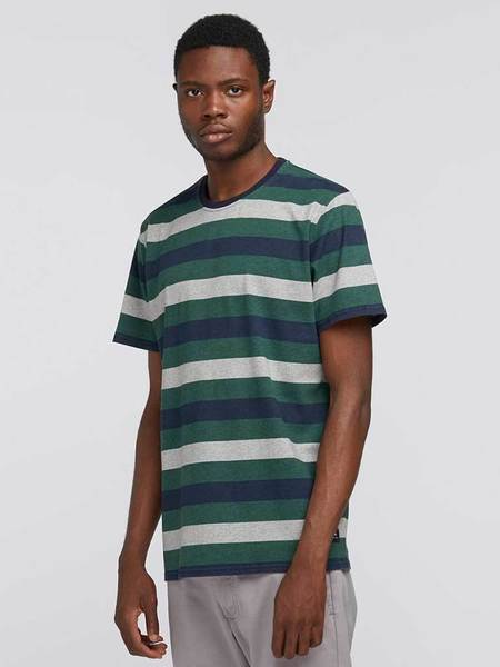 Edwin George Stripe T-Shirt - Sycamore