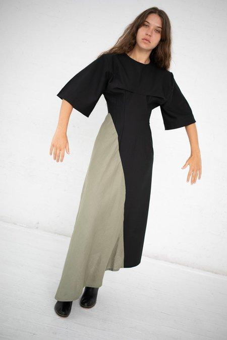 Yulia Kondranina Asymmetric Dress - Black/Olive