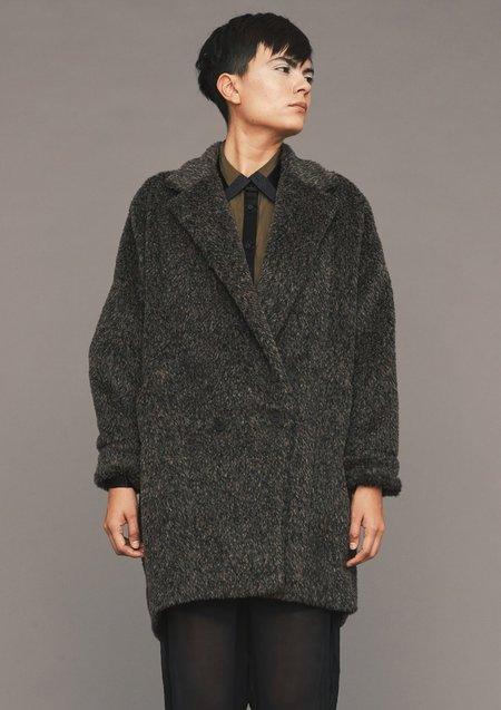 Berenik ALPACA SHAGGY COAT - brown/black