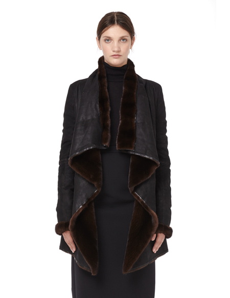HUN Rick Owens Double-faced Mink Fur Coat