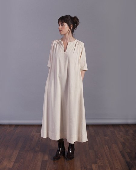 Sunja Link Yoke Dress -  Ivory