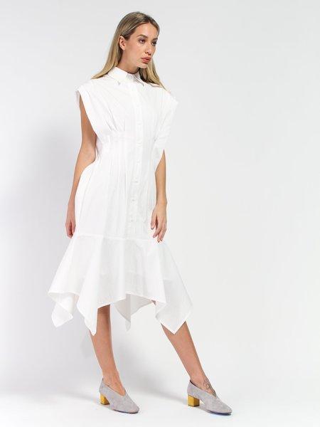 Elohim Viola Shirt Dress - White