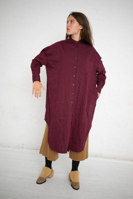 Hache Shirt Dress - Maroon