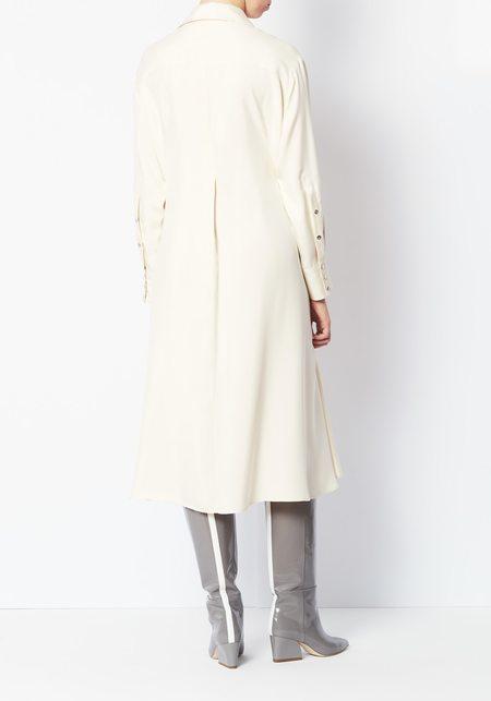 Lorod Silk Twill  Shirt Dress - Cream