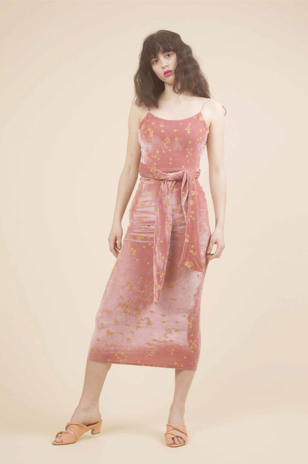 Samantha Pleet Stardust Dress in Blush