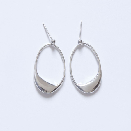 BAR JEWELLERY DIP EARRINGS - Silver