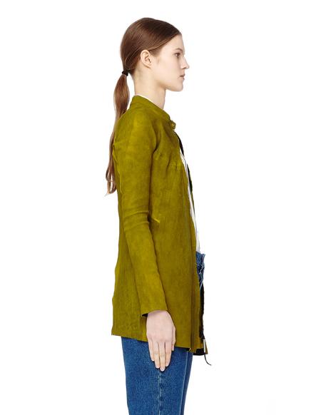 Isaac Sellam Suede Shirt Jacket - Green