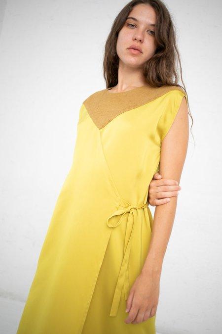 Nehera Sleeveless Wrap Dress - Mustard