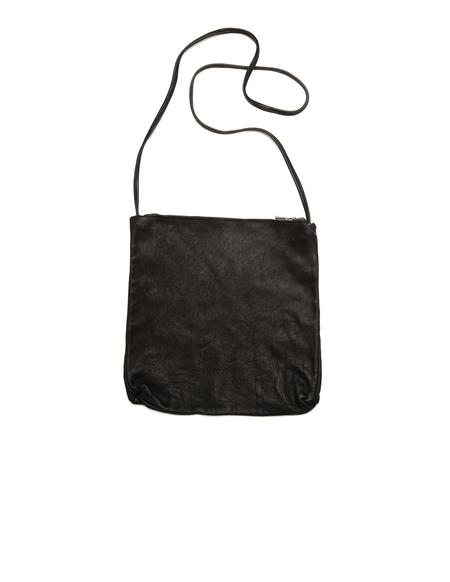 Guidi Cross-Body Leather Bag - Black