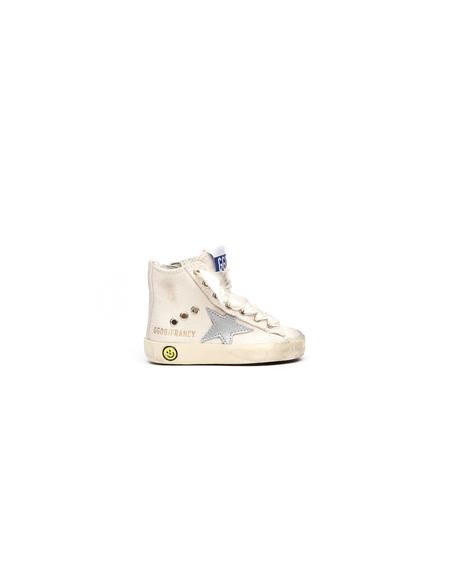 Kids Golden Goose Leather/Cotton Sneakers - Beige