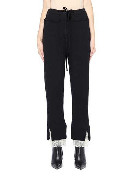 Ann Demeulemeester Lace Trimmed Drawstring Pants