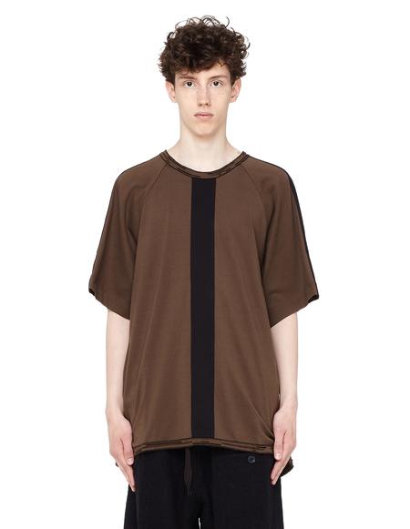 Ziggy Chen Cotton T-shirt with Decorative Stripes