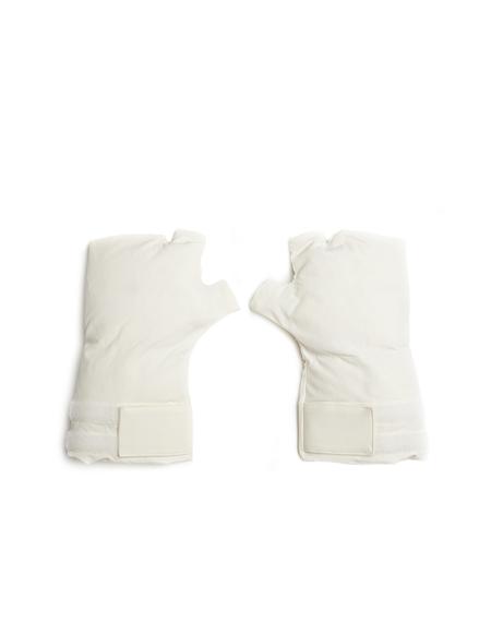 Julius Nylon Padded Fingerless Gloves - White