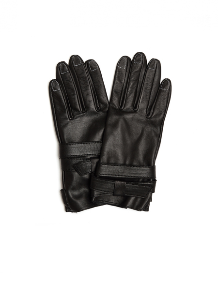 Yohji Yamamoto Leather Gloves with Contrast Stitches