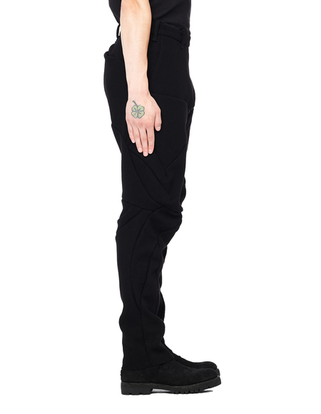 Leon Emanuel Blanck Distortion Fitted Wool Trousers - Black