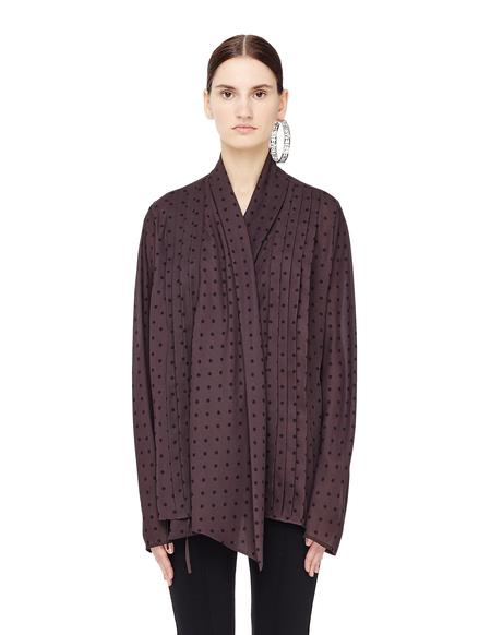 Haider Ackermann Polka Dot Wrap Shirt - Brown
