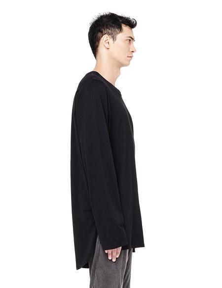 Avialae Cotton Long Sleeve T-shirt - BLACK
