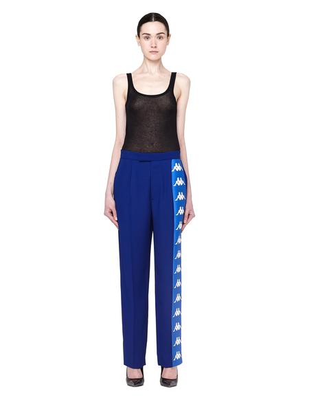 Faith Connexion Kappa Striped Trousers - Navy Blue