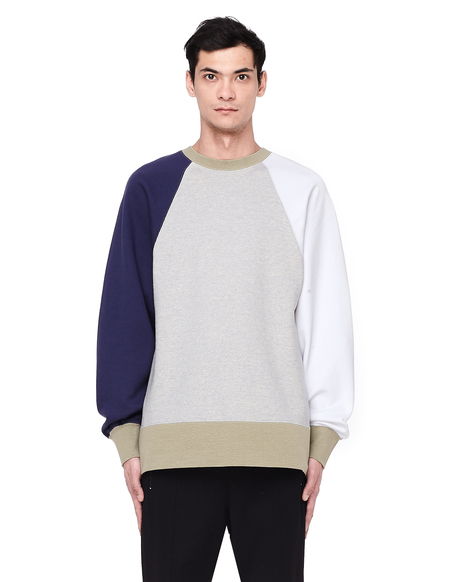 Visvim Contrasting Sleeve Cotton Sweatshirt - Grey
