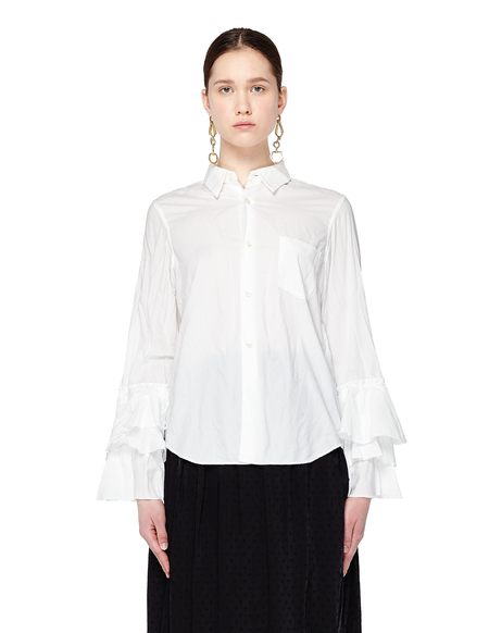 Comme des Garcons Ruffle Cuffs Shirt - White