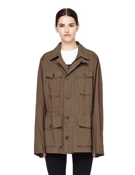 Urban Zen Poplin Safari Style Jacket - Khaki