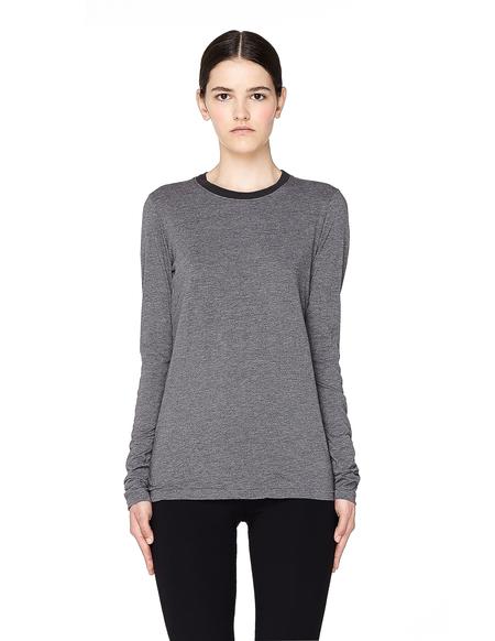 James Perse Supima Cotton Long Sleeve T-shirt - Grey